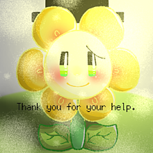 Thank you for your help.の画像(Floweyに関連した画像)