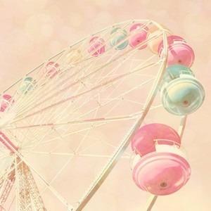 素材 待ち受け 壁紙 可愛い ピンク 観覧車の画像 プリ画像