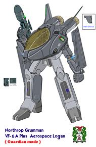 ガウォーク形態 VT-8AE plus ローガンの画像(戦闘に関連した画像)