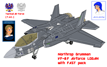 VF-8F エアフォース・ローガンの画像(戦闘に関連した画像)