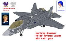 【はしご展開】VF-8F エアフォース・ローガンの画像(戦闘に関連した画像)