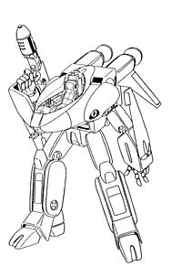 ガウォーク形態 VF-8A 宇宙ローガンの画像(戦闘に関連した画像)