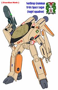【オレンジ】VF-8A 宇宙ローガン 【ガウォーク形態】の画像(戦闘に関連した画像)