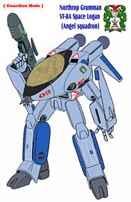 【薄紫青色 】VF-8A 宇宙ローガン 【ガウォーク形態】の画像(戦闘に関連した画像)