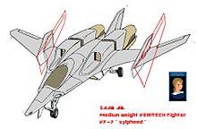 外翼折り畳み SAAB 可変戦闘機 VF-7N シルフィードの画像(シルフィーに関連した画像)