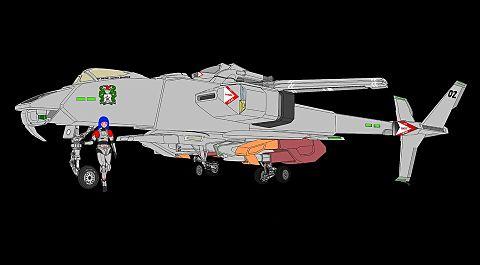 【固定翼形態】VFH-12B スーパーオーロラン(手足排除)