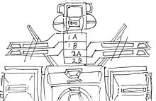 可変戦闘機オーロランの回転翼機構図〔白地〕の画像(ヘリコプターに関連した画像)