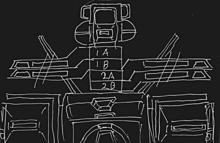 可変戦闘機オーロランの回転翼機構図〔黒地〕の画像(ヘリコプターに関連した画像)