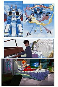 ロボテック:リミックス第1巻追加1の画像(ジーナに関連した画像)