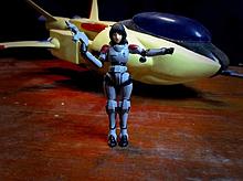 可変戦闘機ローガンとマリー・アンジェルの画像(戦闘に関連した画像)