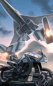 可変戦闘機VFA-6レギオスとVR-052モスピーダの画像(戦闘に関連した画像)