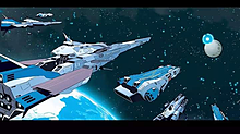 SDF-1マクロスと宇宙空母アームドによる遠征艦隊軍の陣容の画像(超時空要塞マクロスに関連した画像)