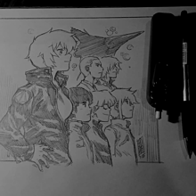 「リミックス」シリーズ登場人物の群像スケッチの画像(ジーナに関連した画像)
