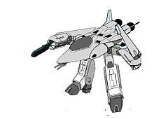 【ガウォーク形態】軽可変戦闘機 VF-8 LL ローガンの画像(戦闘に関連した画像)