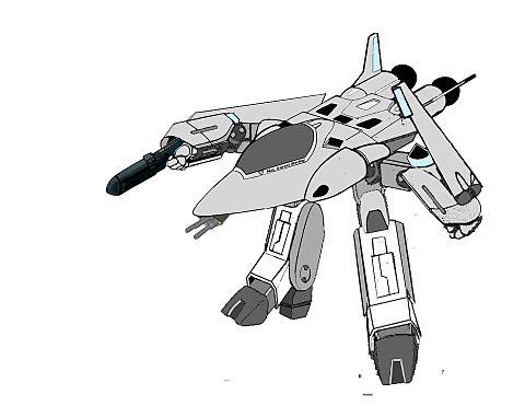 【ガウォーク形態】軽可変戦闘機 VF-8 LL ローガンの画像 プリ画像