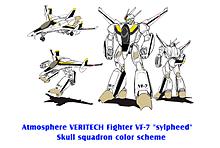 VF-7 シルフィード スカル隊長 ロイ・フォッカー塗装の画像(戦闘に関連した画像)