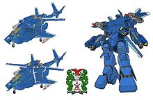 可変戦闘機 VFH-10C 単座型 オーロラン 海兵隊仕様3形態の画像(戦闘に関連した画像)
