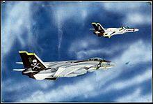 グラマン F-14A トムキャット と、VF-1S バルキリーの画像(超時空要塞マクロスに関連した画像)