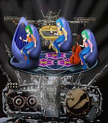 歌巫女三姉妹超時空要塞SDFN ② 【艦橋上空投影 】の画像(ミキに関連した画像)