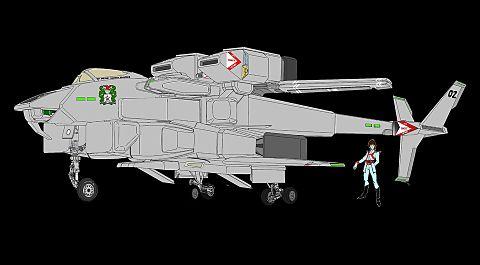 「VFH-12B スーパーオーロラン」と マリー・アンジェル大佐の画像 プリ画像