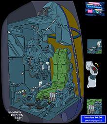 第14版 VFH-10 オーロランBlock1.5 操縦区画の画像(Robotechに関連した画像)