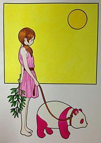 徳田有希  月とパンダと女の子の画像(パンダ イラストに関連した画像)