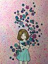 徳田有希  花と女の子 プリ画像