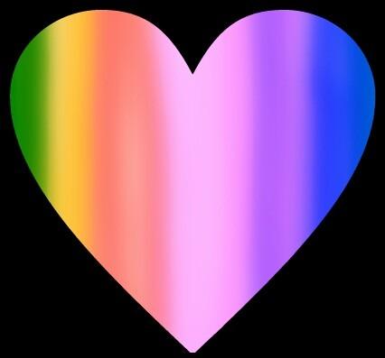 虹色ハート