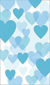 青ハート素材壁紙背景の画像(プリ画像)