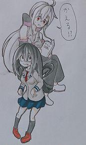 梅雨ちゃんとハクさん(あと葉隠さん)の画像(プリ画像)